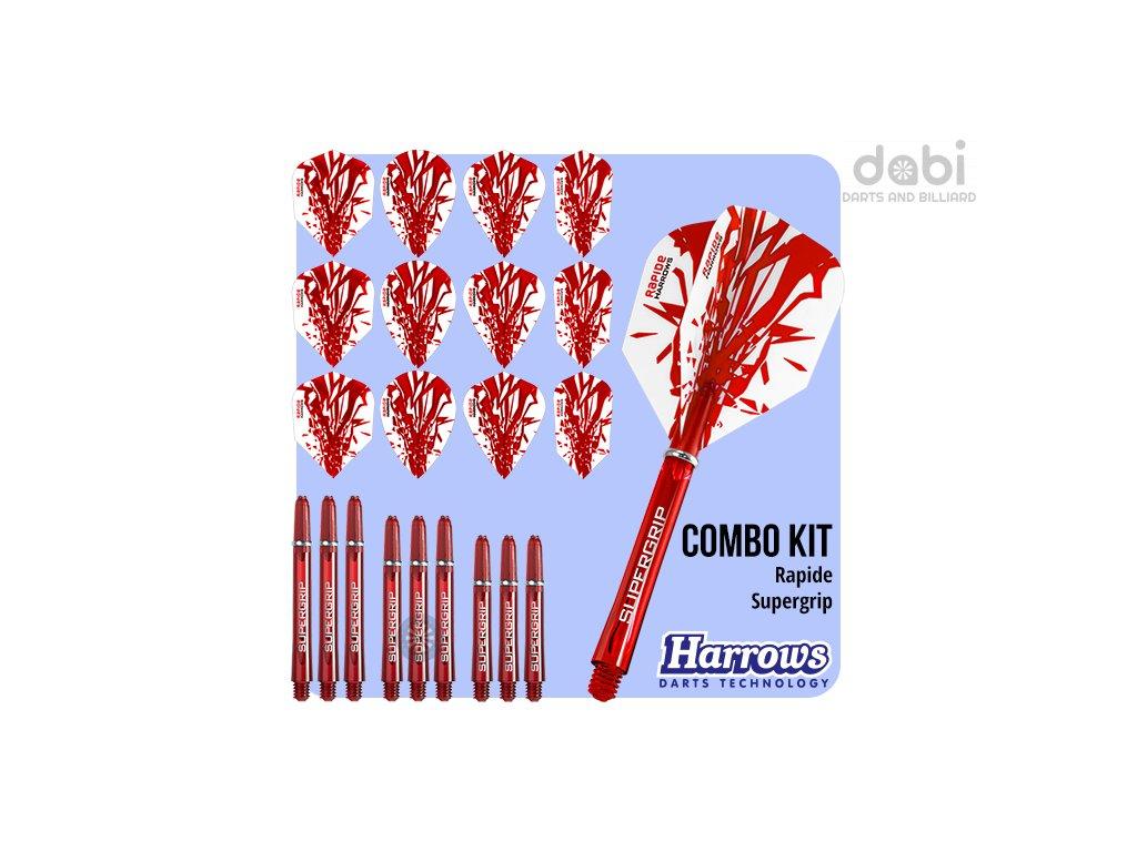 harrows rapide combo kit red flights shafts