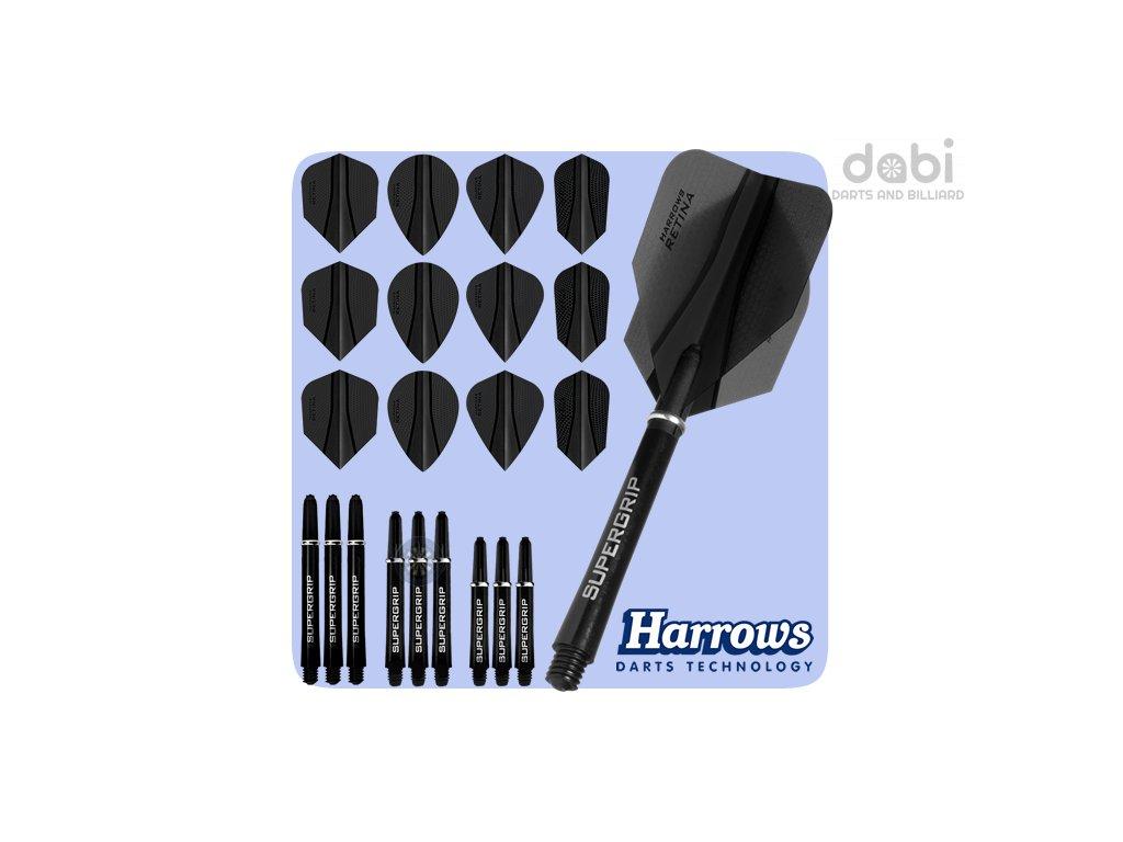 harrows retina x kit black flights mixed