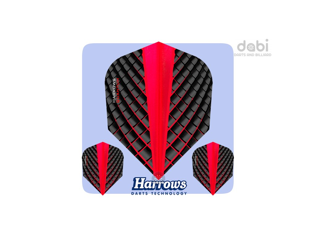 harrows quantum dart flights std red
