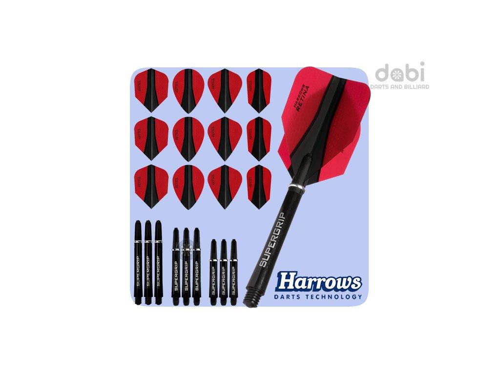 harrows retina x kit red flights mixed