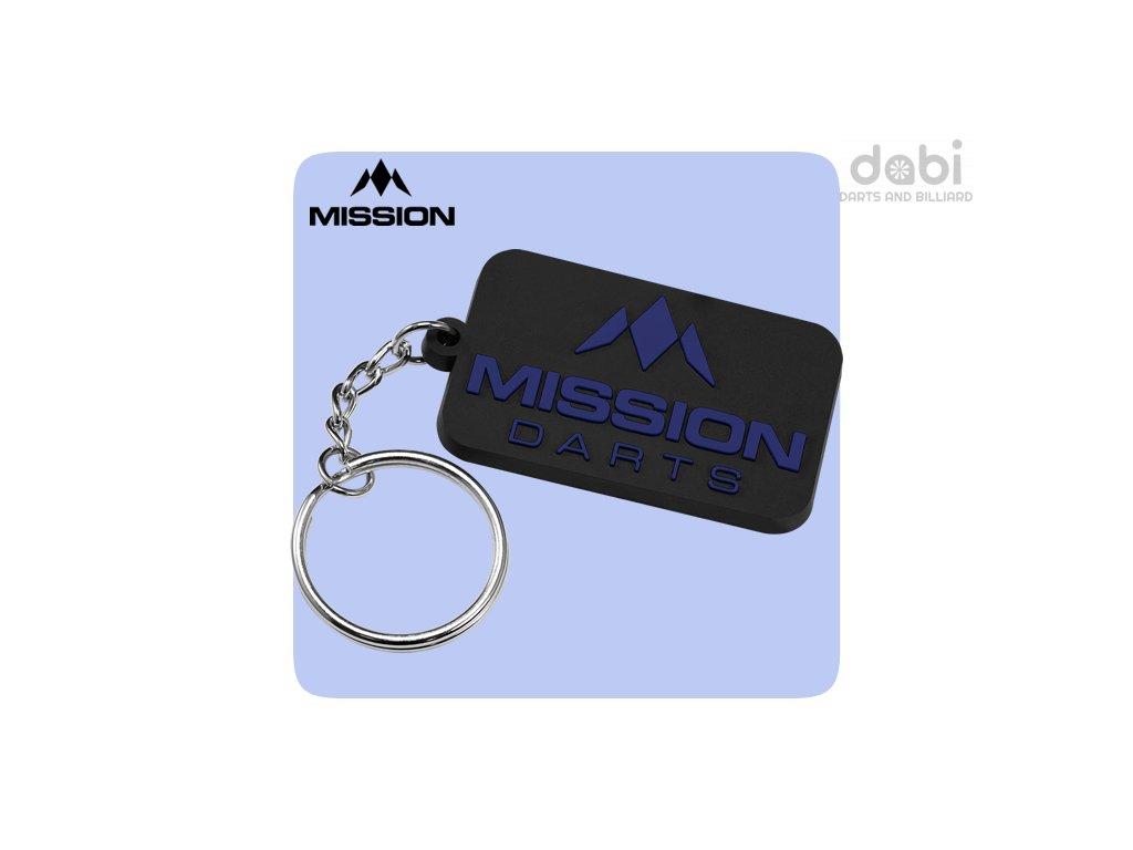mission logo keyring rubber blue