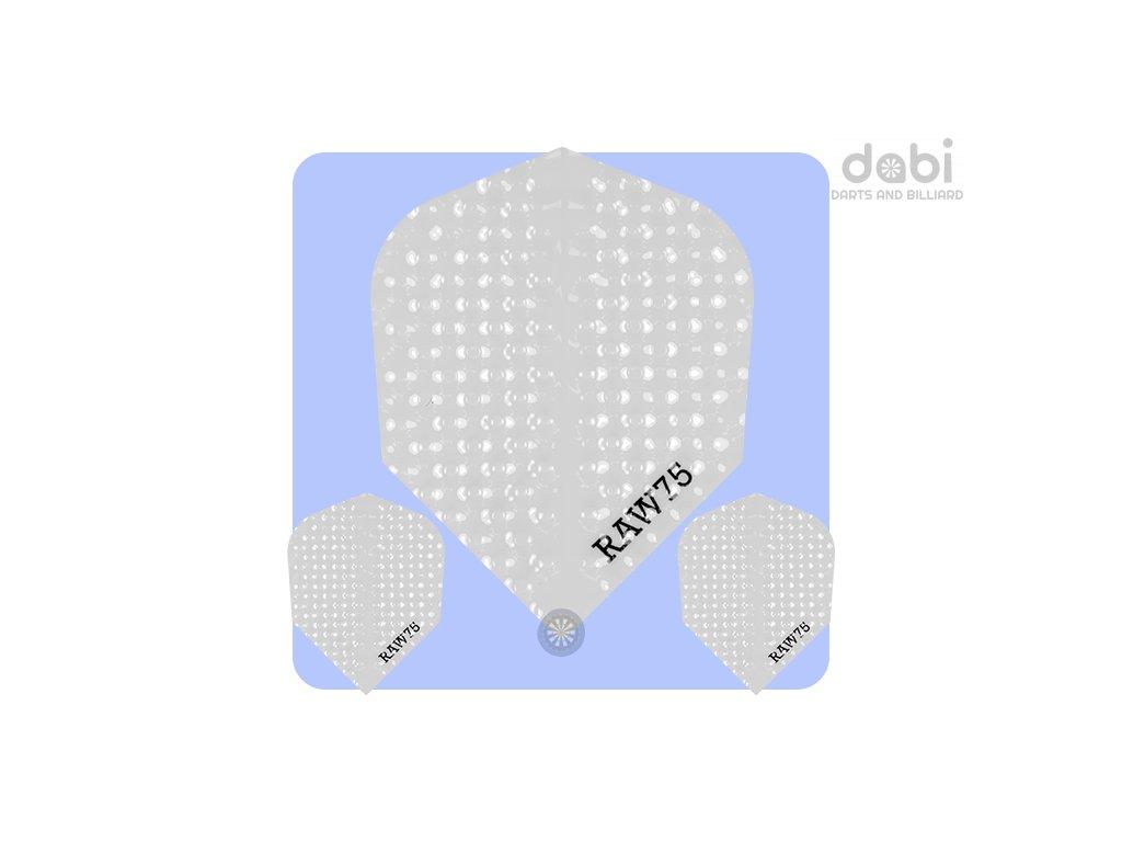 raw 75 dimplex plain dart flights white