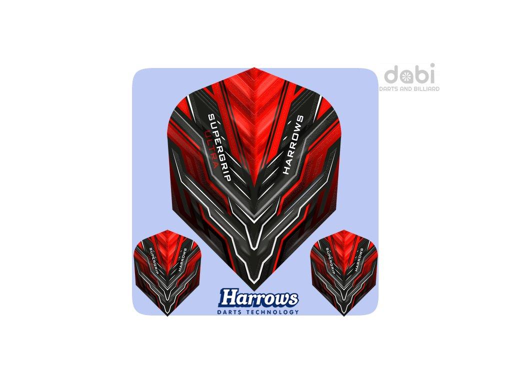 harrows supergrip ultra dart flights std red (1)