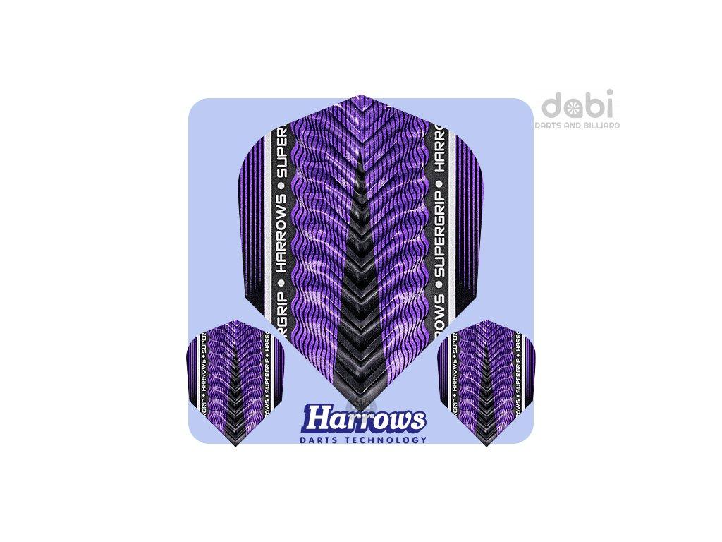 harrows supergrip x dart flights purple