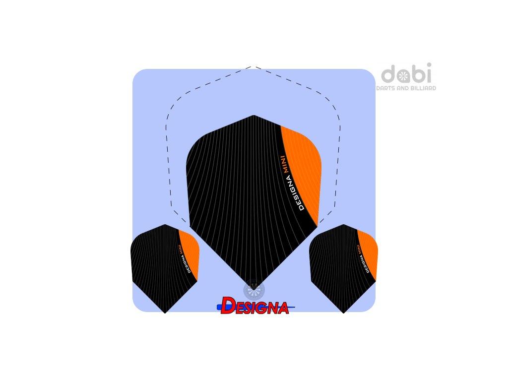 designa infusion mini dart flights orange