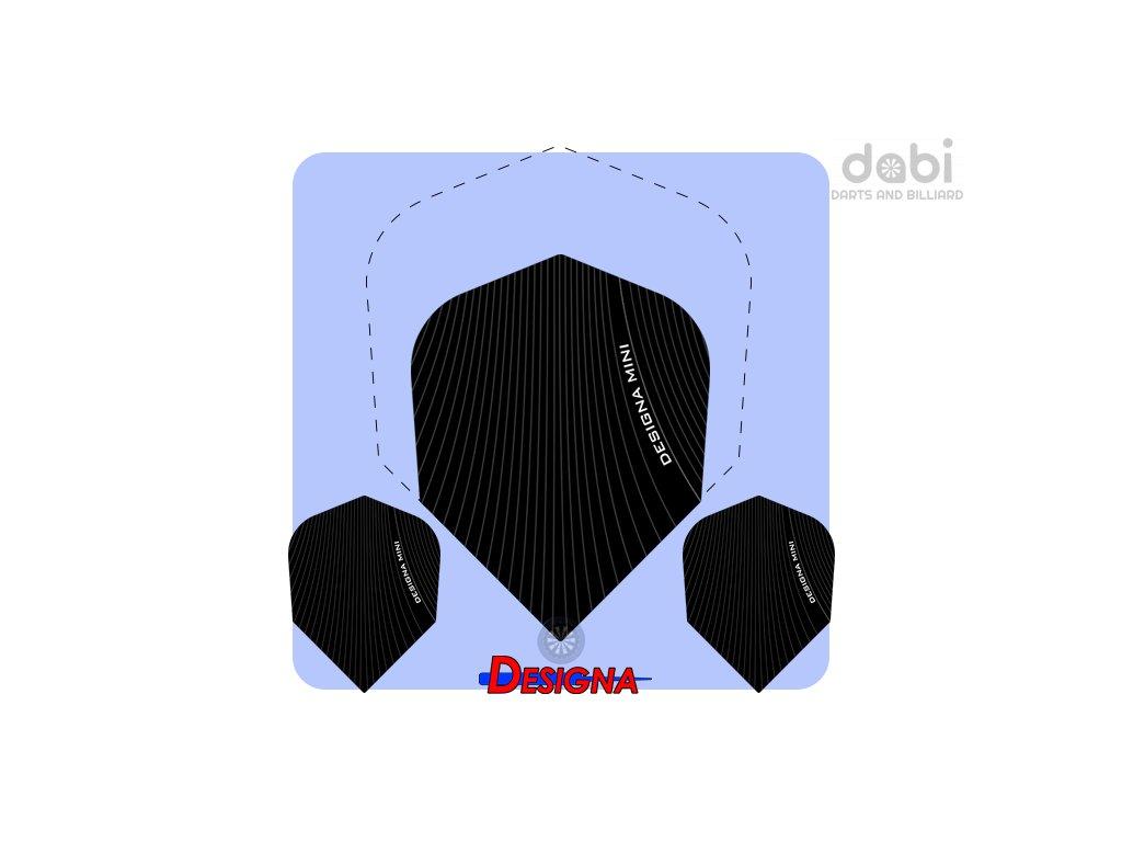 designa infusion mini dart flights black