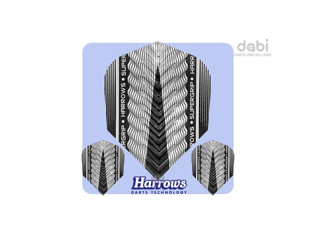 harrows supergrip x dart flights silver