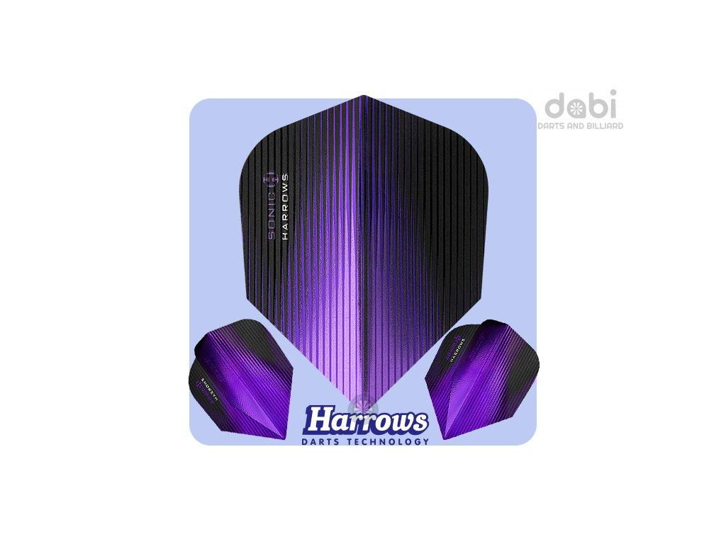 harrows sonic dart flights standard purple