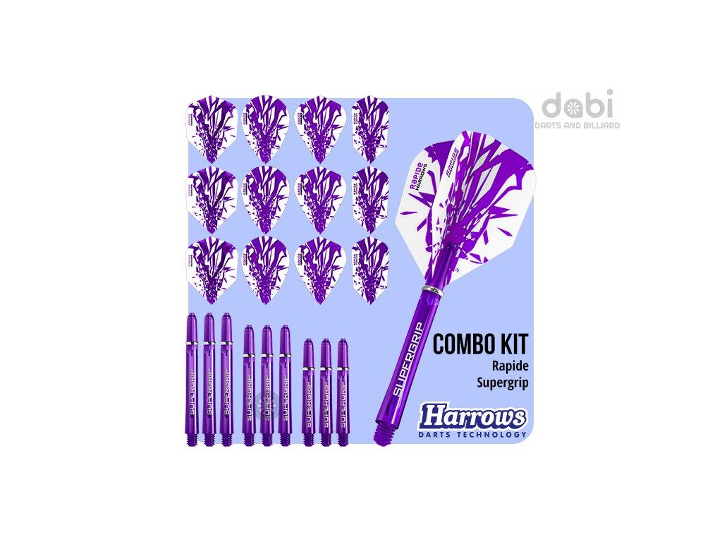 harrows rapide combo kit purple flights shafts