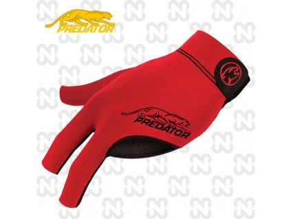 Kulečníková rukavice Predator Second Skin Red L/XL levá