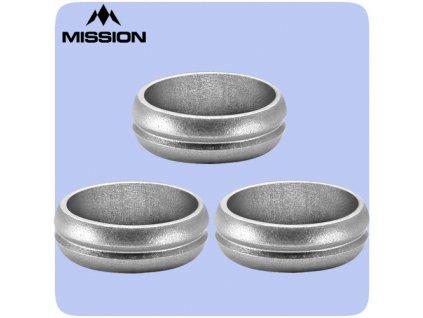 mission flight lock rings silver f lock
