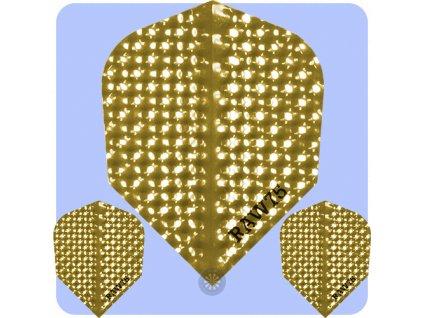 raw 75 dimplex plain dart flights gold