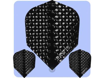 raw 75 dimplex plain dart flights black