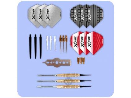xqmax brass darts giftset 700120