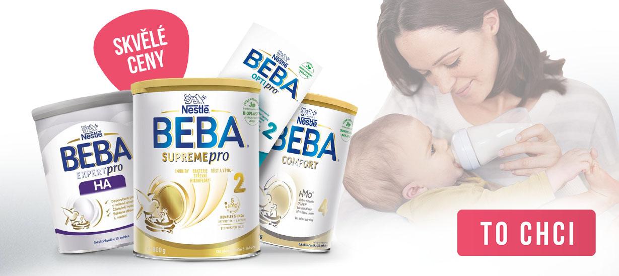 Skvělé ceny na BEBA kojenecká mléka