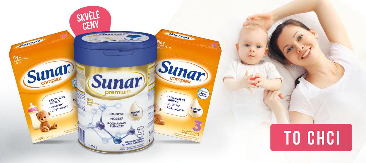 Skvělé ceny na Sunar kojenecká mléka