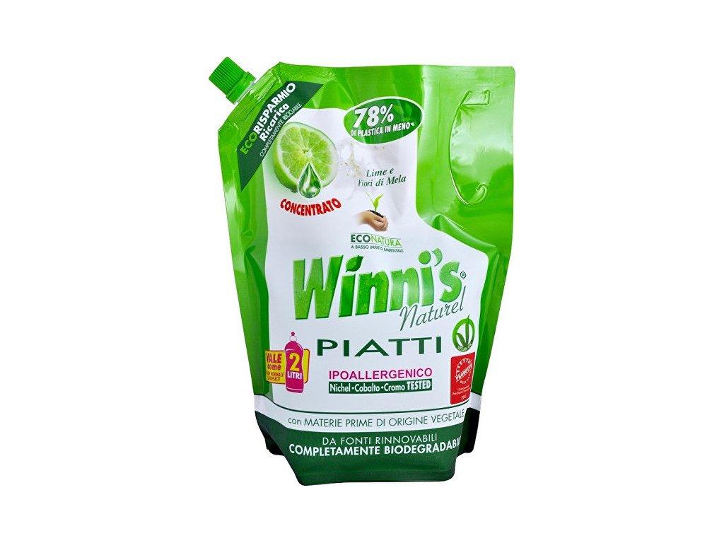 Winni´s, Winni´s Piatti Lime Ecoricarica koncentrovaný mycí prostředek na nádobí s vůní limetky - náhradní náplň 1000 ml
