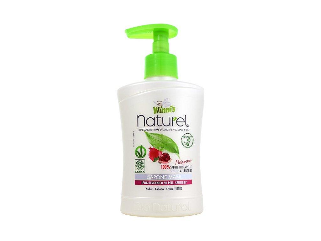 107228 1 winni s naturel sapone mani melograno tekute mydlo s granatovym jablkem 250 ml