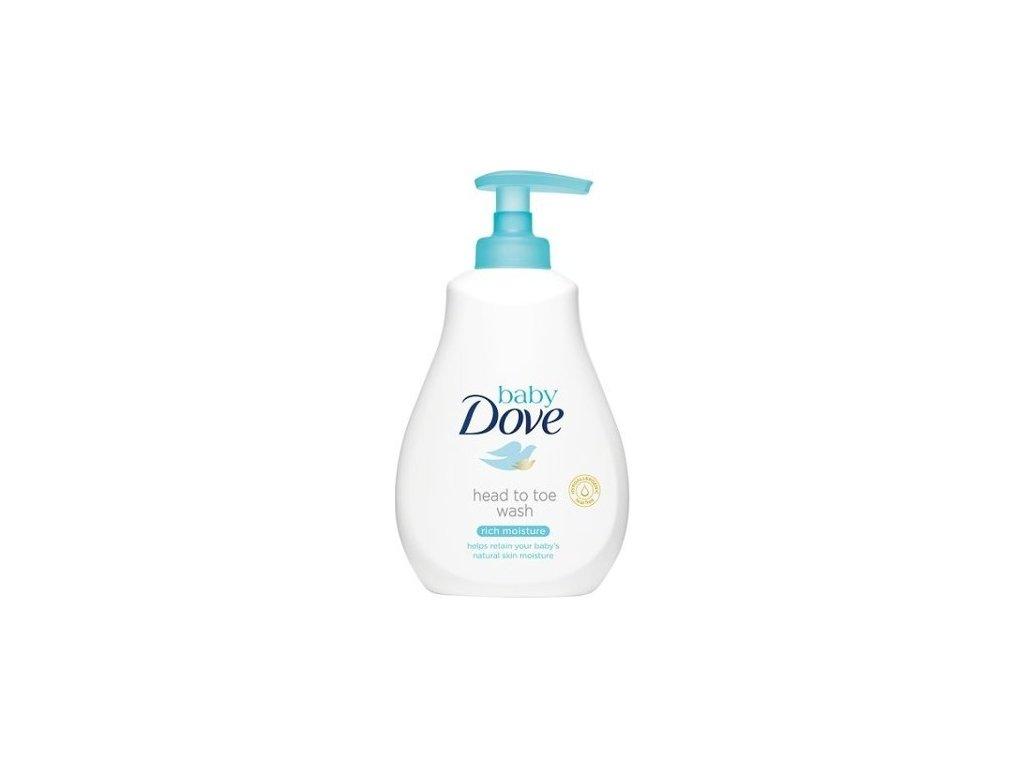 132110 dove myci gel pro deti na telo i vlasky baby head to toe wash rich moisture 400 ml
