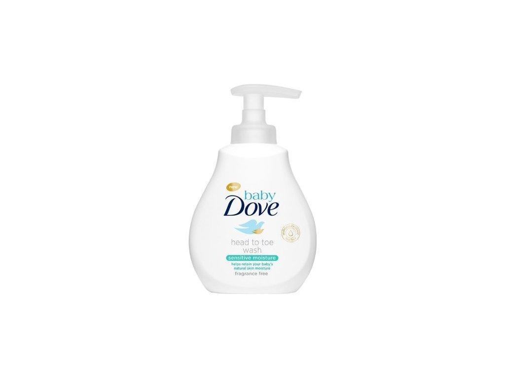 132173 dove myci gel pro deti na telo i vlasky baby head to toe wash sensitive moisture 400 ml