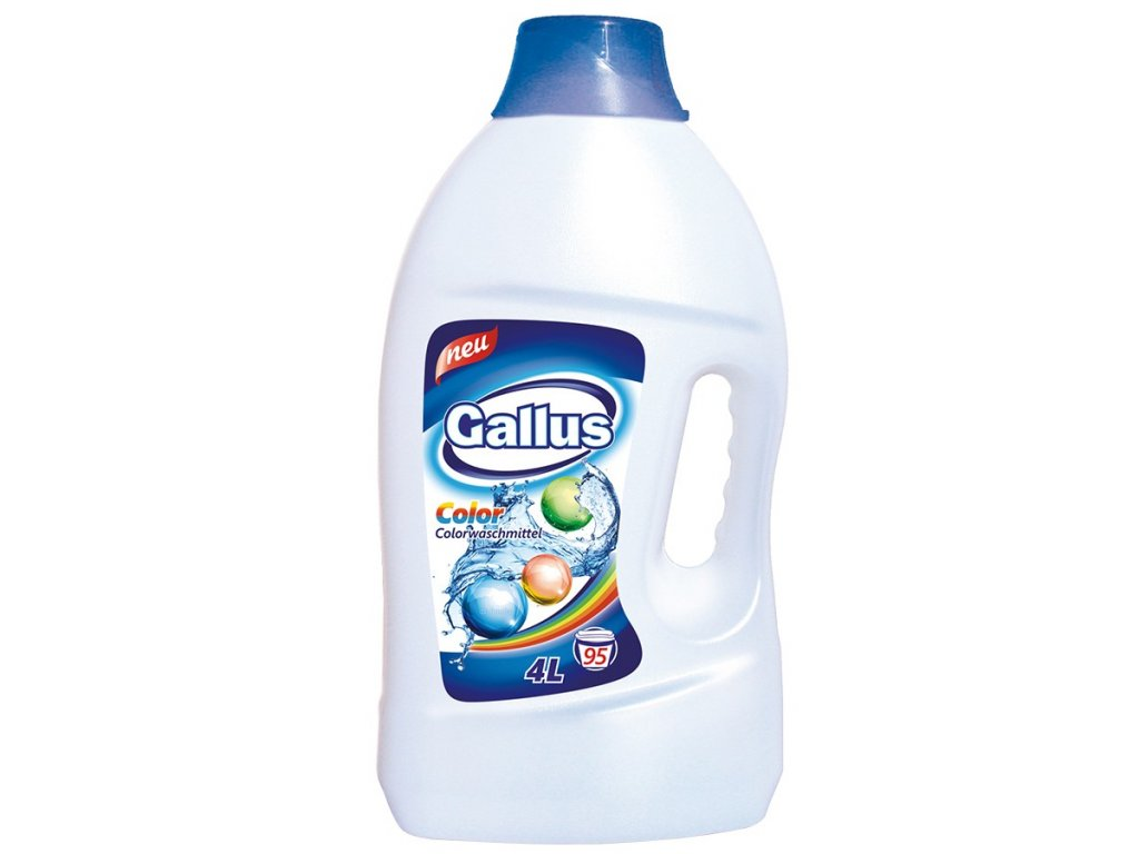 GALLUS, Prací gel, COLOR, 4L, 95 dávek