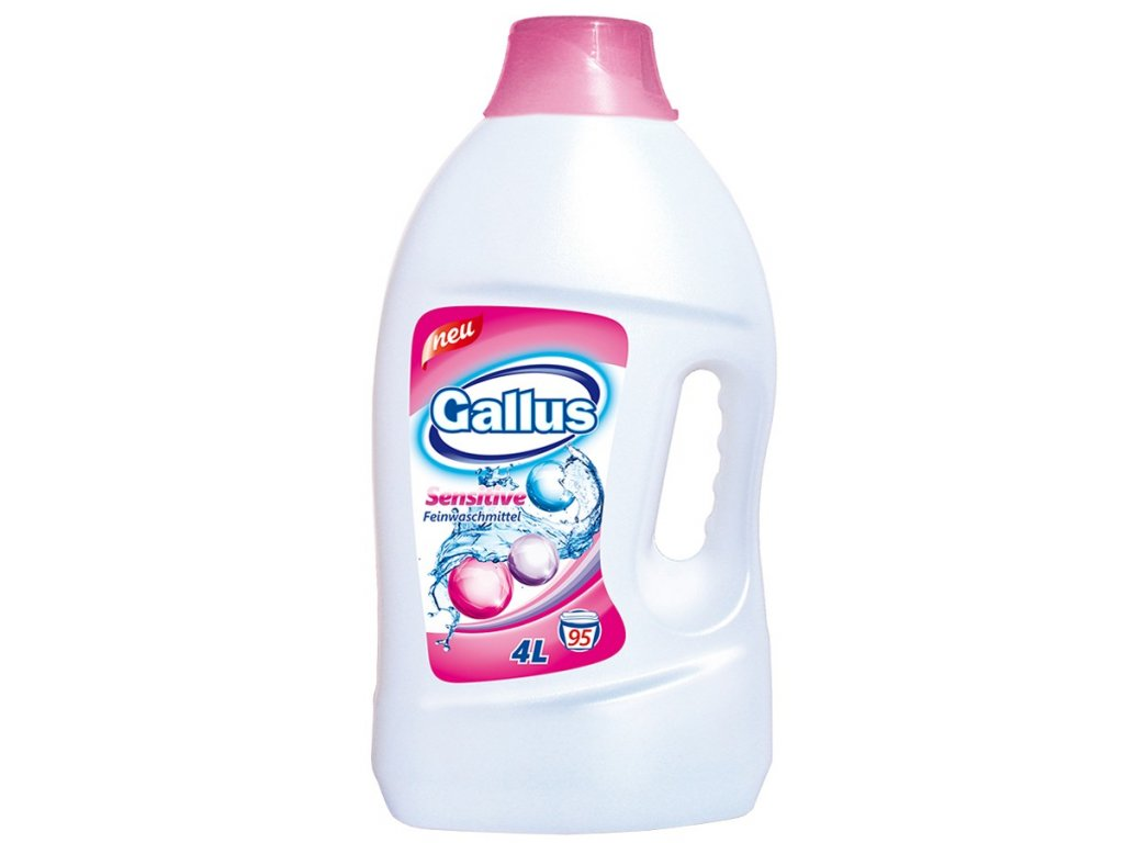 GALLUS, Prací gel, SENSITIVE, 4L, 95 dávek