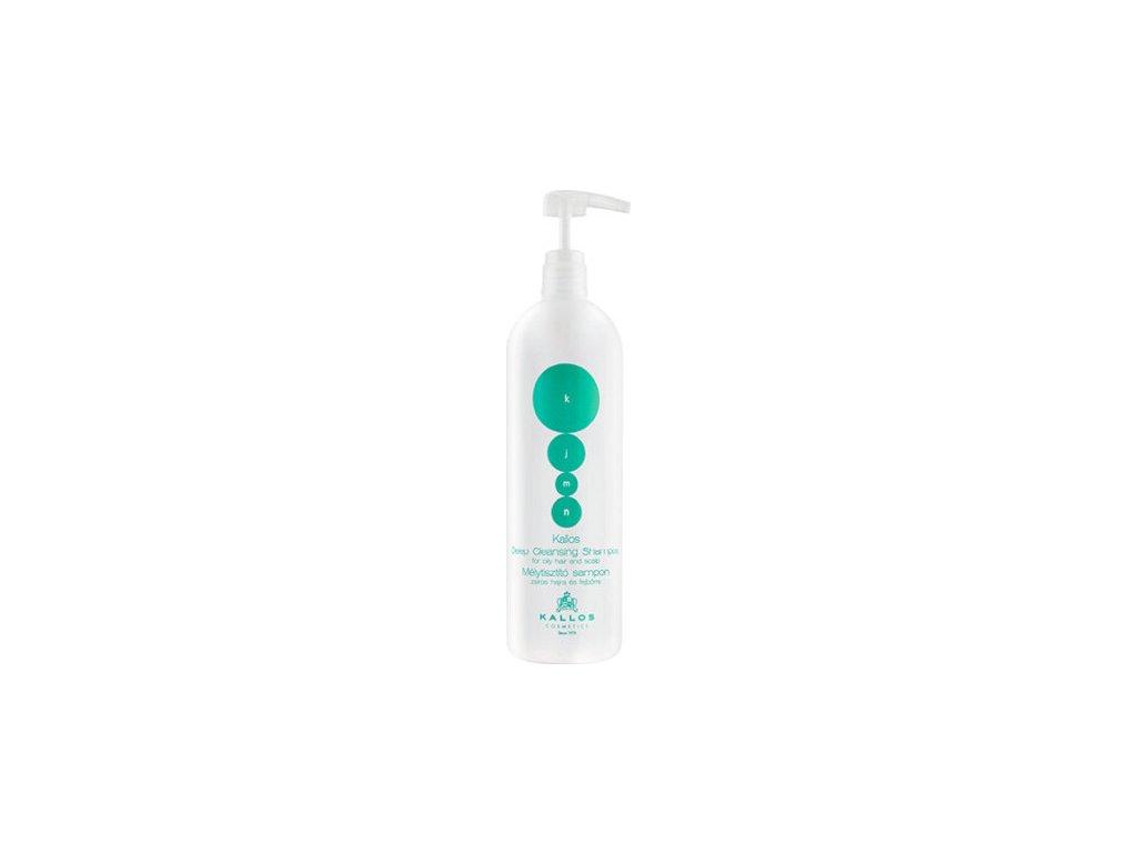 229025 kallos hloubkove cistici sampon pro mastne vlasy a vlasovou pokozku kjmn deep cleaning shampoo 1000 ml