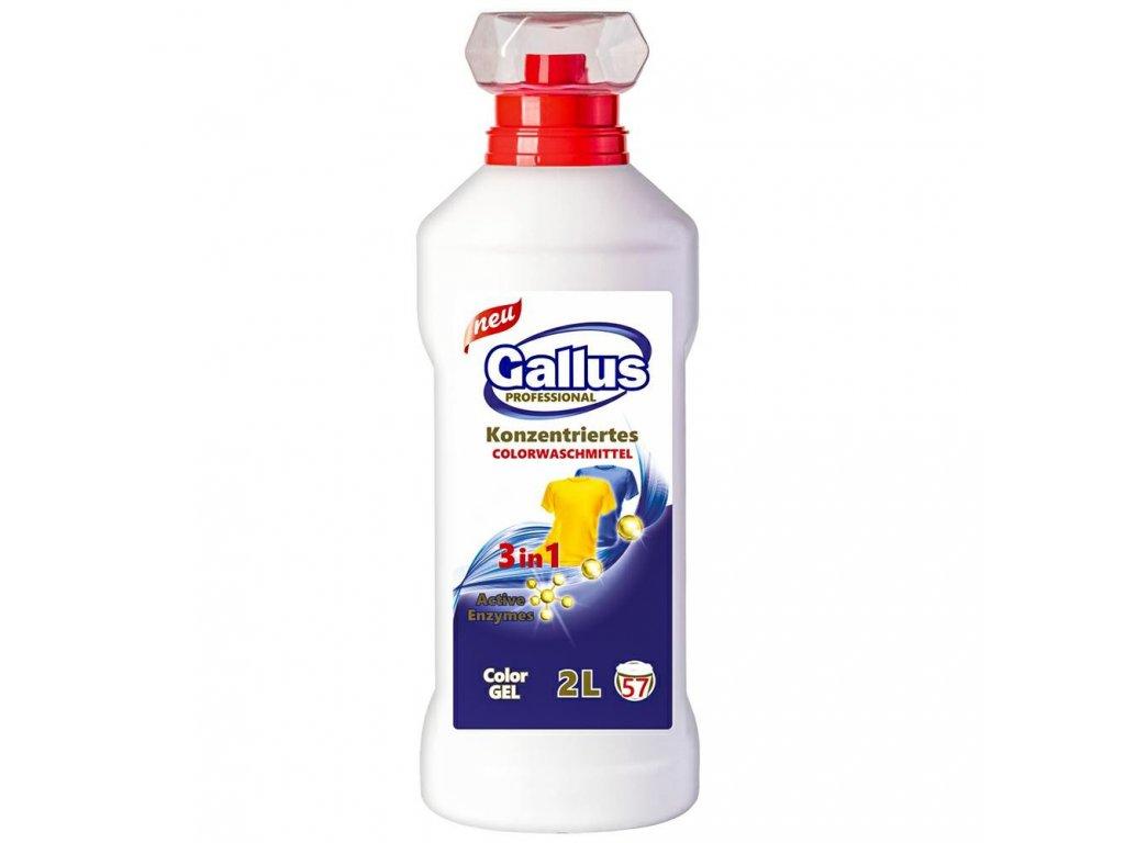 GALLUS, Prací gel 3v1, COLOR, na barevné prádlo, 2L, 57 dávek