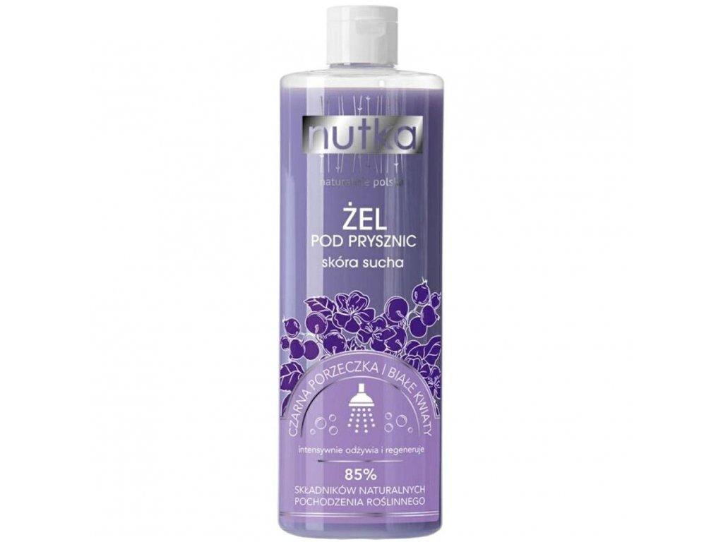 299747 nutka natural cosmetics sprchovy gel pro suchou pokozku cerny rybiz a bile kvety 400ml