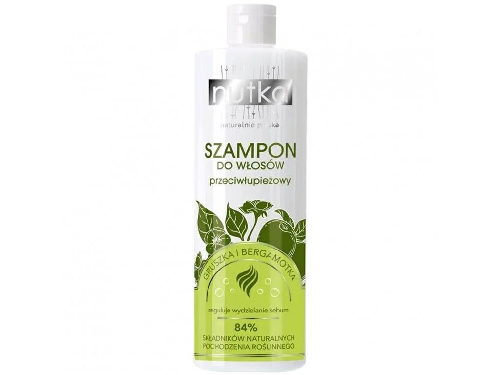 299789 nutka natural cosmetics vlasovy sampon proti lupum hruska a bergamot 400ml