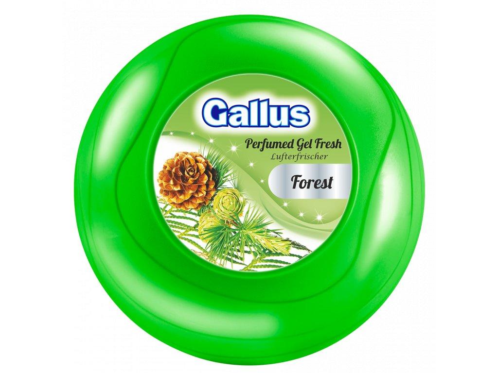 GALLUS, Gelový osvěžovač vzduchu velký, LESNÍ VŮNĚ, 150g