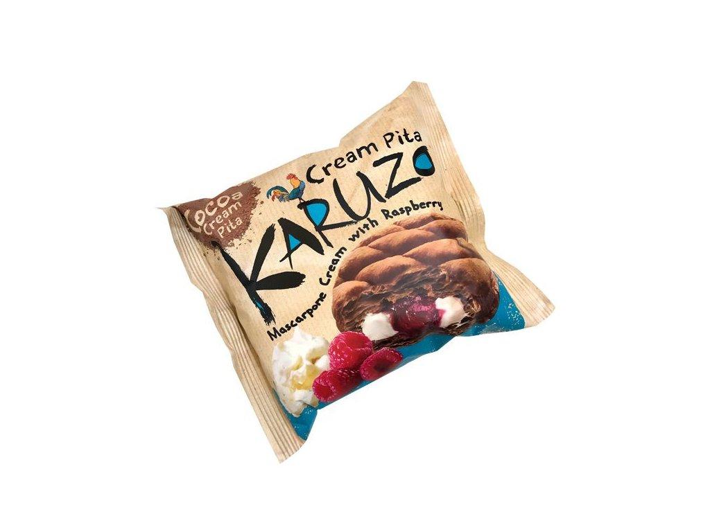 karuzo pita mascarpone cream raspberry