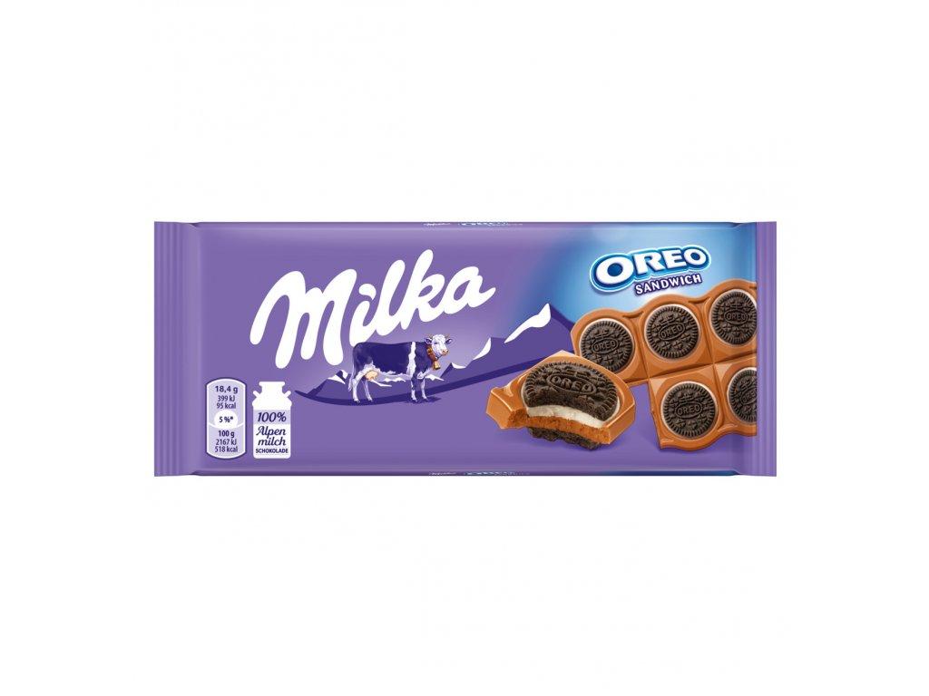 Chocolate alps milk Oreo Sandwich 92g Image 1 Zoom image