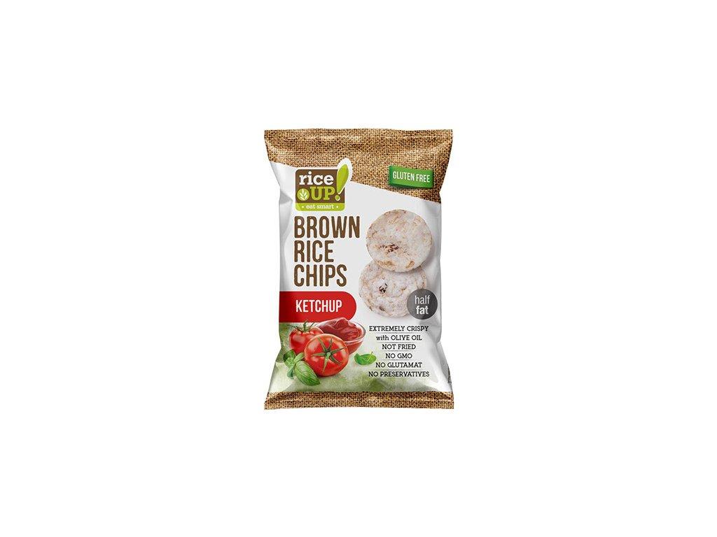 Nuhealth Rýžové chipsy kečup 60g