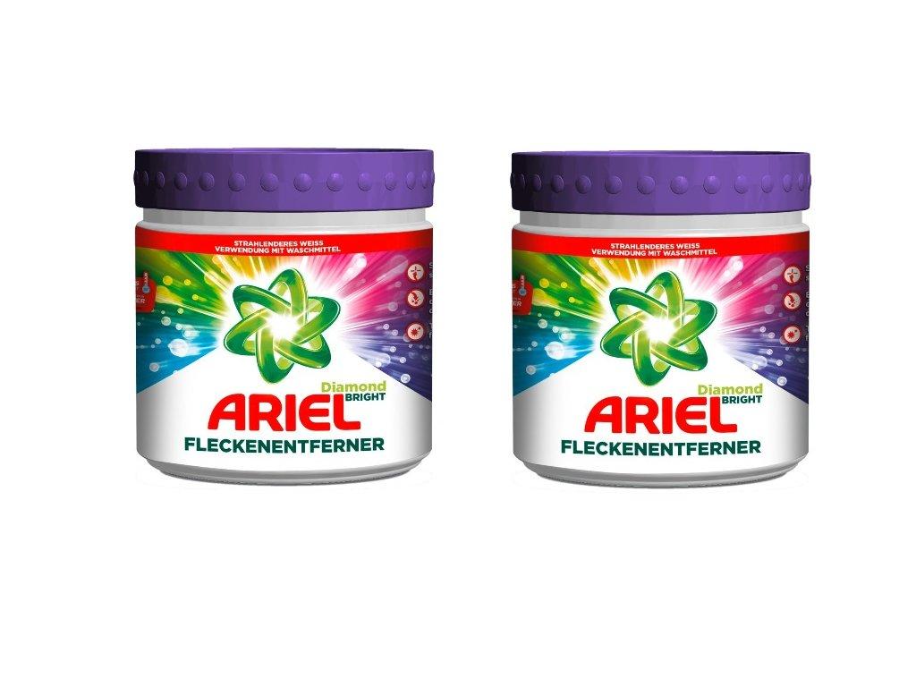 2 pack ARIEL, Odstraňovač skvrn DIAMOND BRIGHT, 500g