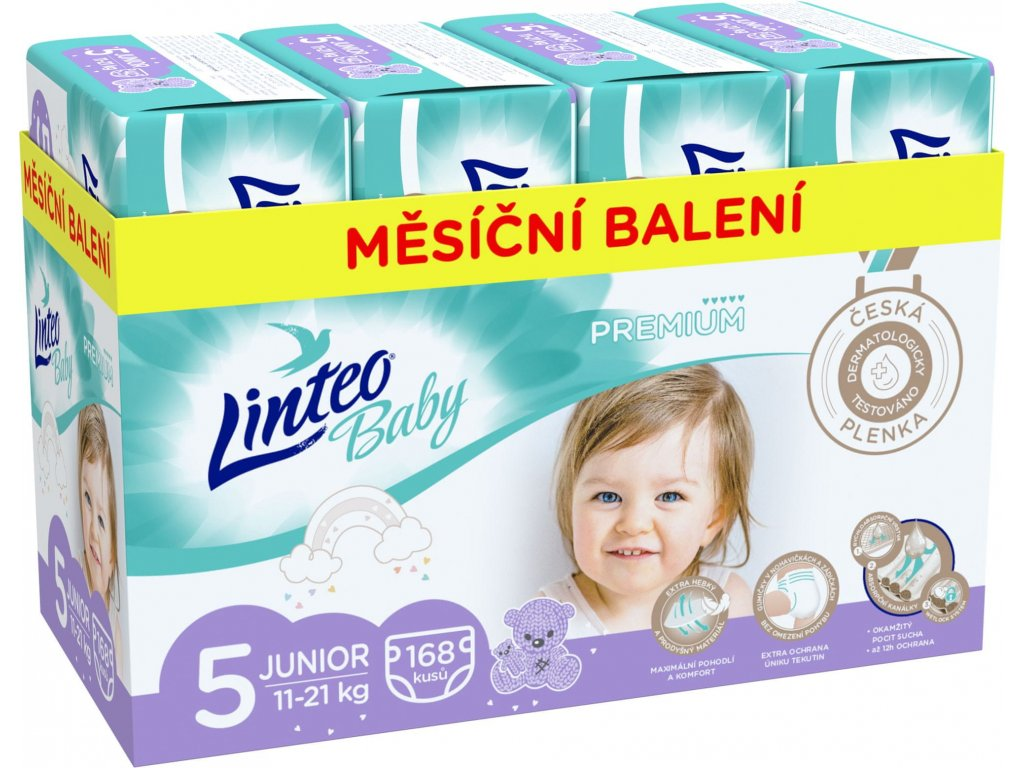 LINTEO Plenky Baby Prémium JUNIOR (11-21 kg) 168 ks