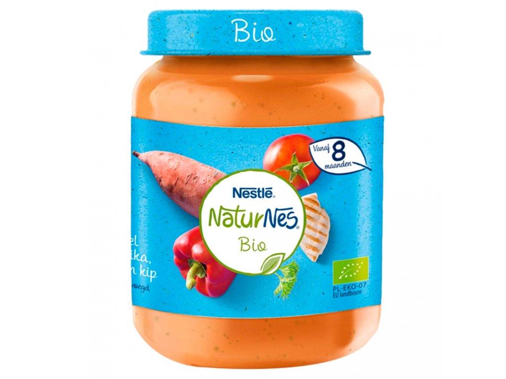 NaturNes BIO Sladké brambory s paprikou, rajčaty a kuřecím masem 190g