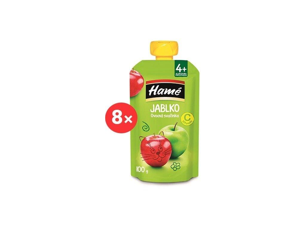 Hamé ovocná svačinka Jablko 8x100g VÝHONÉ BALENÍ