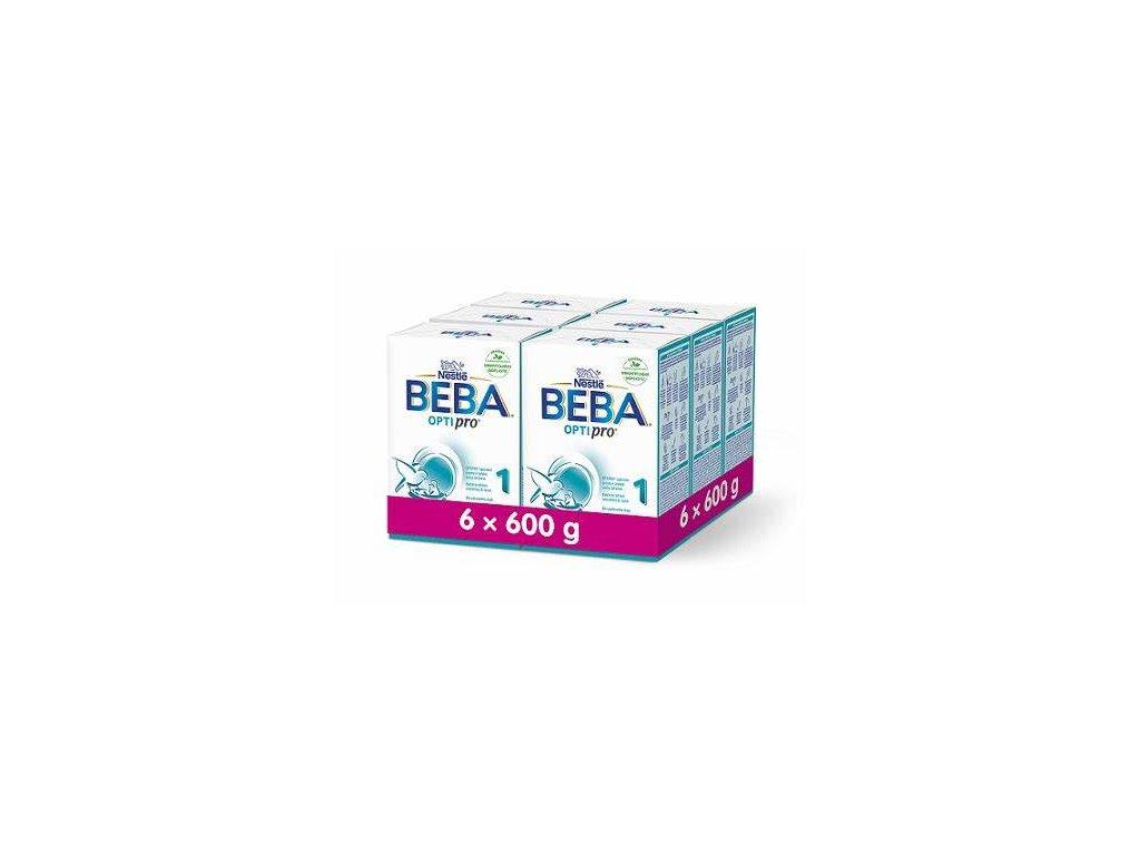 BEBA OPTIPRO® 1, instantní počáteční mléčná výživa, krabice 6x600g VÝHODNÉ BALENÍ