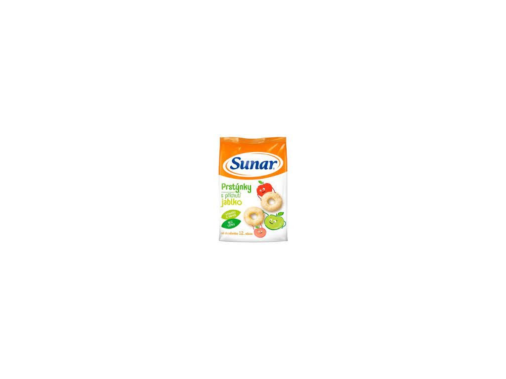 Sunárek dětský snack jablkové prstýnky 50g  (B10)