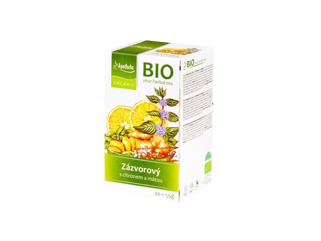 55353 apotheke organic bio zazvor s citronem a matou caj 20x1 5g