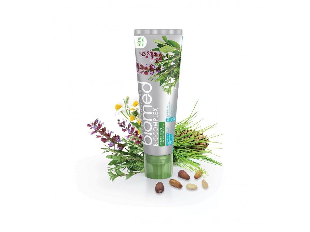 biomed biocomplex zubni pasta s prirodnimi esencialnimi oleji z cedroveho dreva 100 g