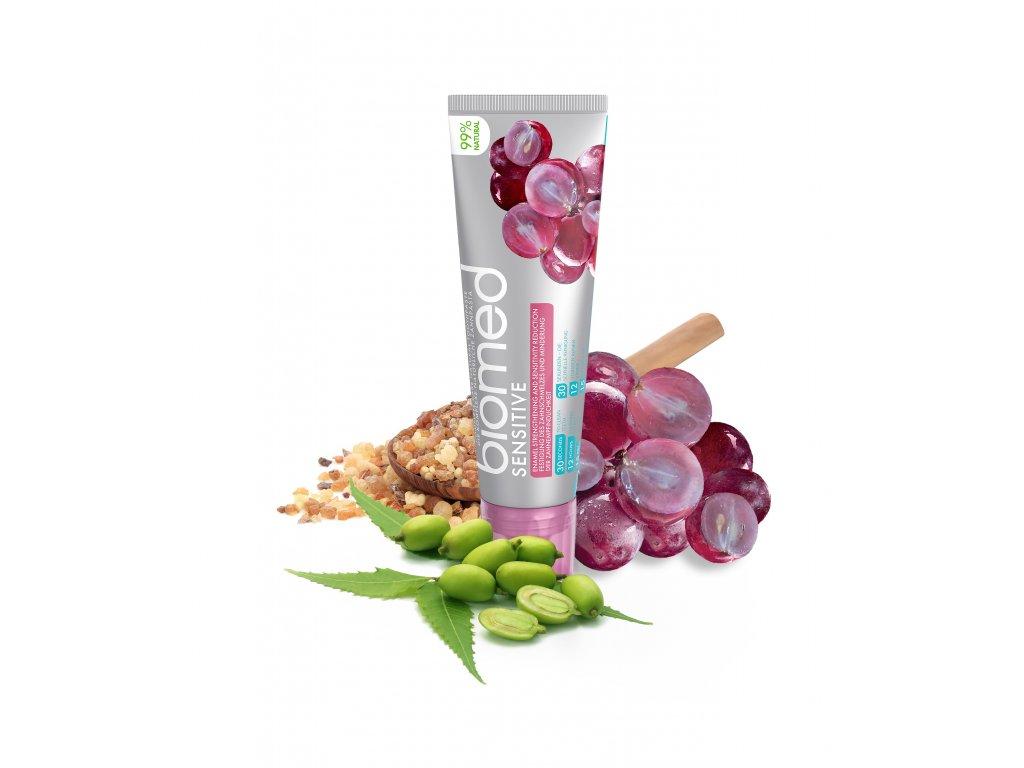 biomed sensitive zubni pasta s prirodnim extraktem z hroznovych jader 100 g