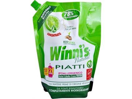 Winni´s, Piatti Lime Ecoricarica koncentrovaný mycí prostředek na nádobí s vůní limetky - náhradní náplň 1000 ml  (I70)