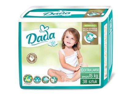 DADA Extra soft, jednorázové pleny, vel.:6, nad 15kg, 38ks