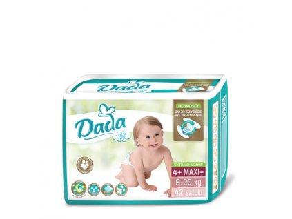 DADA Extra Soft, jednorázové pleny, vel.:4+, 9-20kg, 42ks