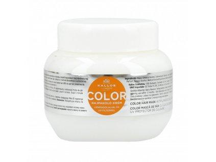 285467 kallos color maska pro barvene vlasy se lnenym olejem a uv filtrem 275 ml