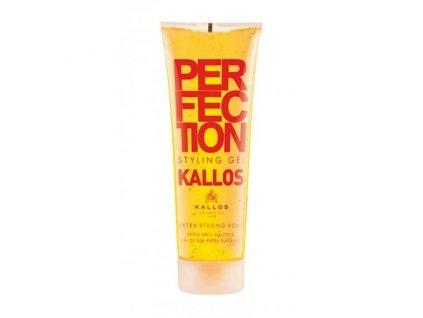 289865 kallos perfection extra silny gel na vlasy zluty extra strong 250 ml
