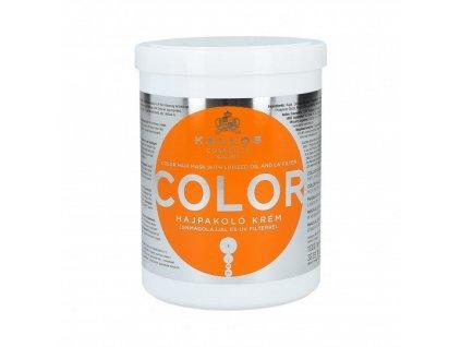 290060 kallos color maska pro barvene vlasy se lnenym olejem a uv filtrem 1000 ml