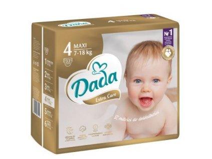 DADA Extra Care, jednorázové pleny, vel.:4, 7-18kg, 33ks